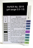 pH Strips 0.0 - 1.8 (Fil-Chem) #0018