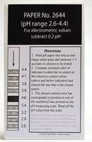 pH Strips 2.6 - 6.4 (Fil-Chem) for electrometric value #2644