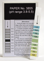 pH Strips 3.8 -5.5 (Fil-Chem) #3855