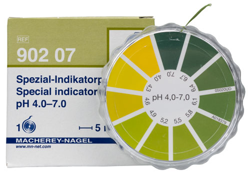 SPECIAL INDICATOR pH 4.0-7.0 dispenser #90207