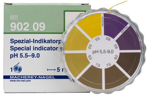 SPECIAL INDICATOR pH 5.5-9.0 dispenser #90209
