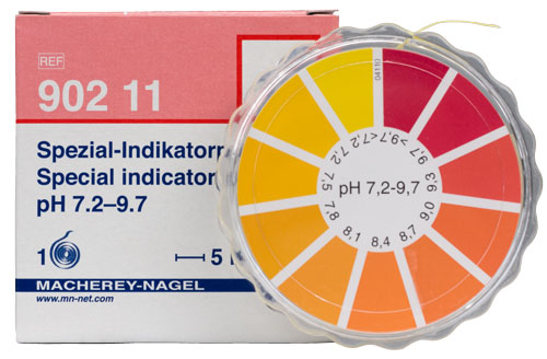 SPECIAL INDICATOR pH 7.2-9.7 dispenser #90211