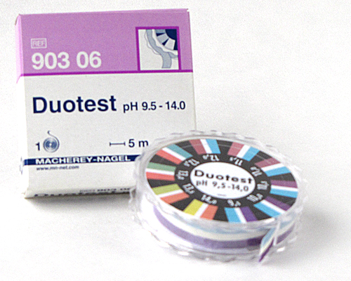 DUOTEST pH 9.5-14.0   DISPENSER #90306
