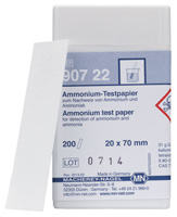 Ammonium test paper *This item is hazardous and cannot ship Parcel Post. It is required to ship UPS Ground* #90722