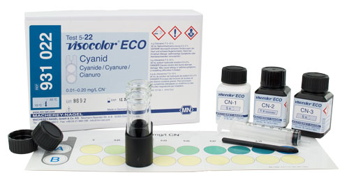 CYANIDE TEST KIT (VISOCOLOR® ECO CYANIDE) *This item is hazardous and cannot ship Parcel Post. It is required to ship UPS Ground* #931022