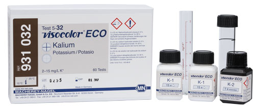 POTASSIUM TEST KIT (VISOCOLOR ECO POTASSIUM) *This item is hazardous and cannot ship Parcel Post. It is required to ship UPS Ground* #931032