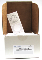 E-Z LOCK SEDIMENT TEST CARDS TC900 #ST8316