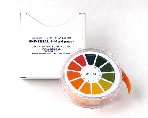UNIVERSAL pH 1-14  PAPER (26 feet x 5/8 inch) #UNIV-114LD